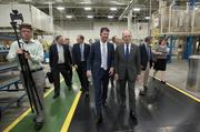 GE Appliances CEO Chip Blankenship, left, and University of Kentucky president Eli Capilouto led a tour of Appliance Park.