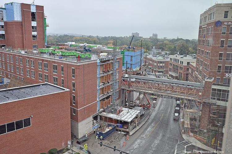 Health care fuels the region's construction industry. A new patient tower at Albany Medical Center will cost $360 million and reshape a neighborhood.