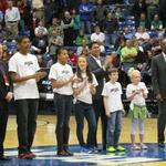 Top STEM students take floor at NCAA First Four in Dayton