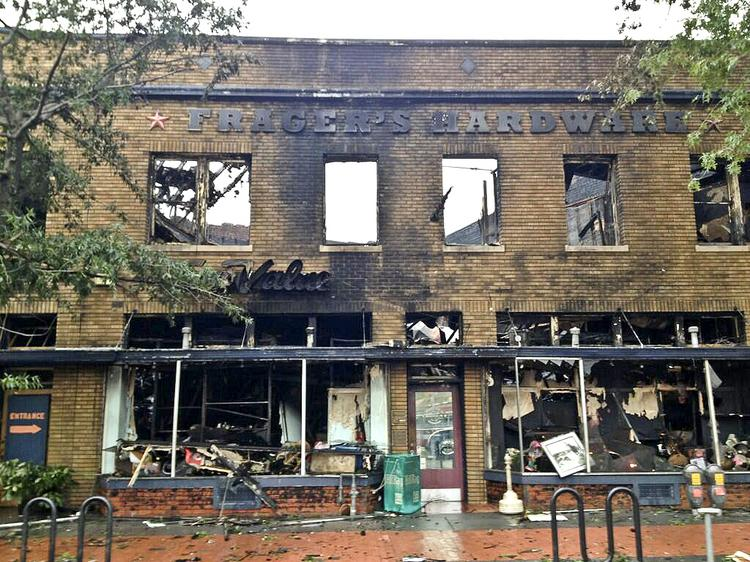 Frager's after the massive fire.