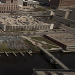Public land for sale: downtown river frontage, I-94 access and City Hall itself