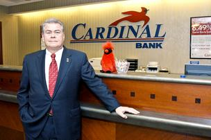 Cardinal Bank CEO Bernard Clineburg views wealth management as one of the brightest spots in the banking industrys future and has no plans to abandon the sector. 
