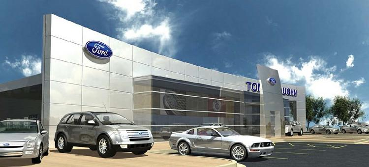 A rendering of the dealership at 1201 N. Shepherd after the $12 million renovation. The project is expected to be completed in early 2014.