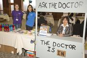 Dr. Christine Florendo, a Latrobe pediatrician, was on hand to offer advice during Excela Health's children's health fair.