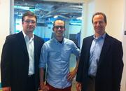 LeanWagon has developed a menu of wellness coaching programs that are offered to the employees of participating companies via an online platform. The startup currently has four customers in Massachusetts. LeanWagon has five employees. Pictured are Cofounders Greg Rublev, Dustin Haines and Scott Parlee.