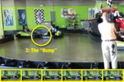That set-up was followed by a second bump sending Ryan's kart into the wall.