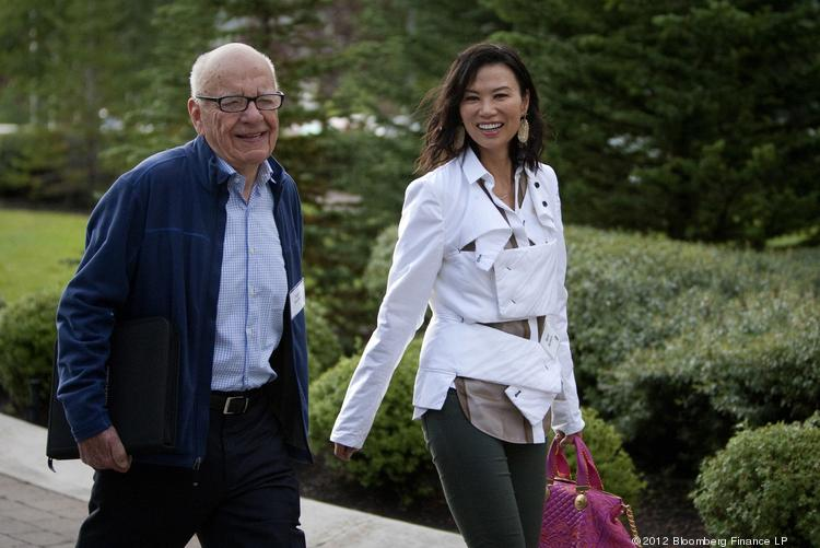 Rupert Murdoch, CEO of News Corp. and his wife Wendi Deng in July 2012. Murdoch has filed for divorce.