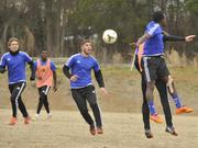 Charlotte Independence players practice at the Rugby Athletic Center on South Tryon Street.