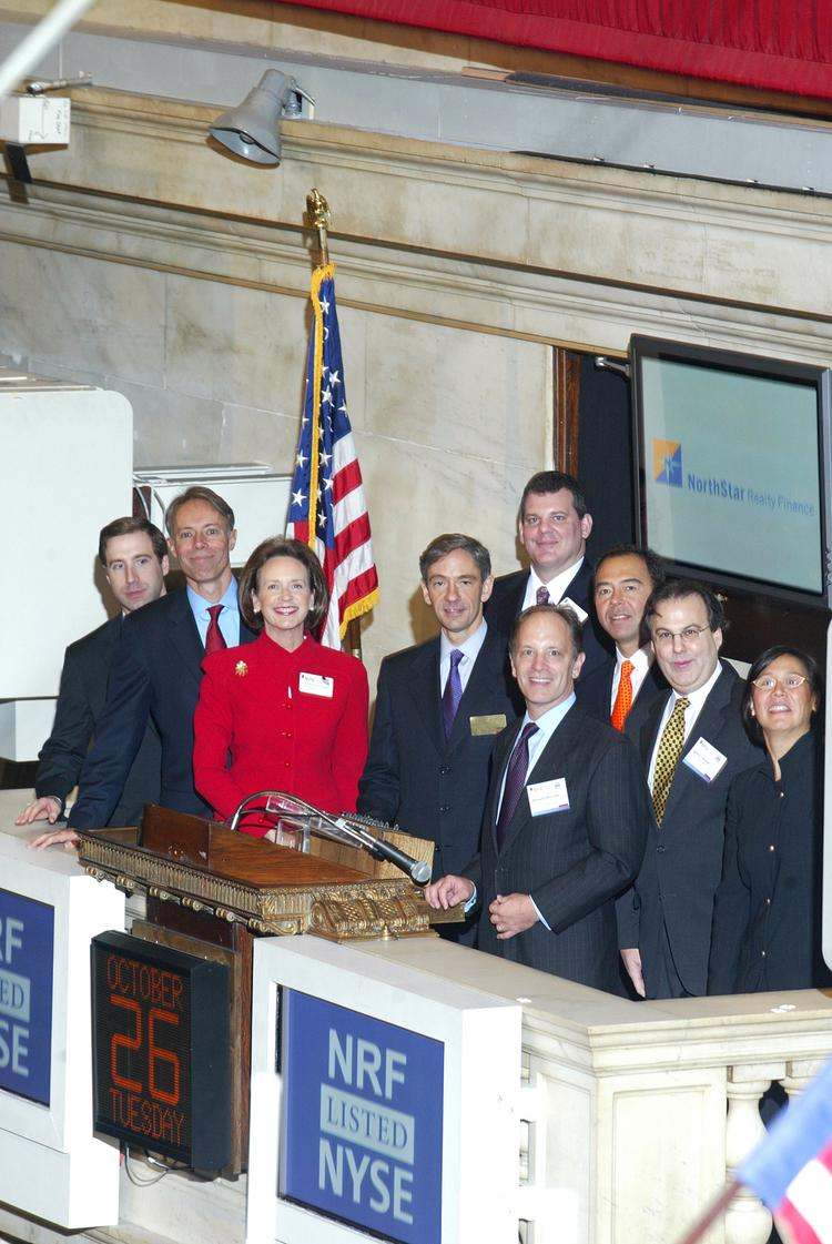 In October 2004, when this picture was taken, NorthStar Realty Finance Corp. execs were ringing the opening bell at the New York Stock Exchange. This week, they are working on $300 million deal without the public ceremony -- a debt offering to private investors.