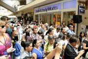 Thousands of people lined up to see the new Microsoft Store at Ala Moana Center.