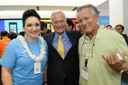 From left, Noelle Neverdon, store manager; Honolulu Mayor Kirk Caldwell and Jack Peters with Aloha 4 You at the new Microsoft Store at Ala Moana Center.