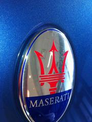 The Maserati Trident is the symbol of the luxury vehicle.