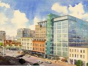 A rendering of the site 627-631 H St. NW when it was planned as an 80,000-square-foot office-and-retail project.