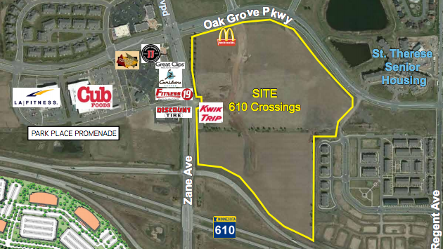 Land Development Brochure : Opus buying acres in brooklyn park for mixed use