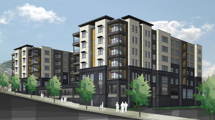 Raleigh 39 s ridgewood retail center owner puts ambitious for Retail apartment plans