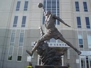 Outside Chicago's United Center, there's a statue of Michael Jordan mid-flight. But even a cultural icon has publicity rights, and Jordan has sued the Dominick's grocery chain over what he says is improper use of his name in an advertisement.