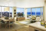 "This rendering shows one of the units withe a ""D"" floorplan in the Symphony Honolulu condominium project."