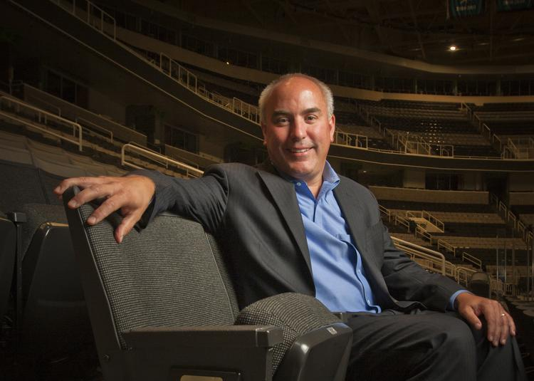 John Tortora, newly-appointed COO of San Jose Sharks ownership group Sharks Sports & Entertainment, at the hockey arena on June 14.