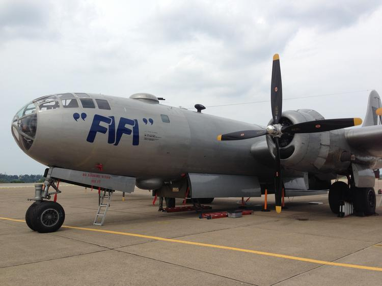 It takes a lot of money -- $1.5 million or so -- to keep FiFi, the last flying B-29 bomber from World War II, in the air. The Commemorative Air Force of Addison, Texas, brought the warbird to Allegheny County Airport this week for tours and flights.