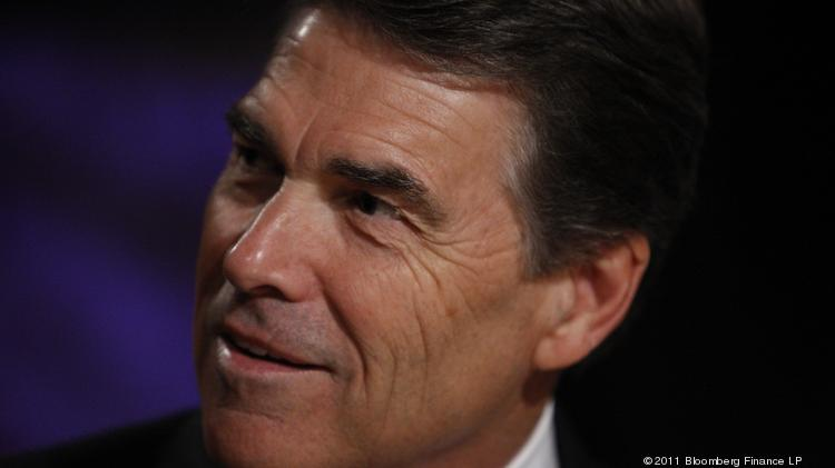 File photo of Gov. Rick Perry. He will accept an award from National Association of Drug Court Professionals for his leadership in expanding drug courts throughout Texas. Photographer: Scott Eells/Bloomberg