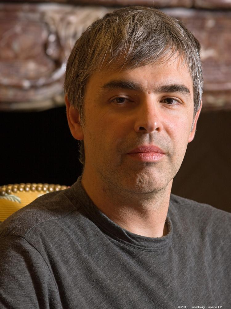 Larry Page, Google Inc. co-founder, Photographer: Matthew Staver/Bloomberg