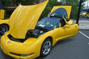A mix of classic and muscle cars were parked on White Street in downtown Wake Forest, including this 2003 Corvette Coupe.
