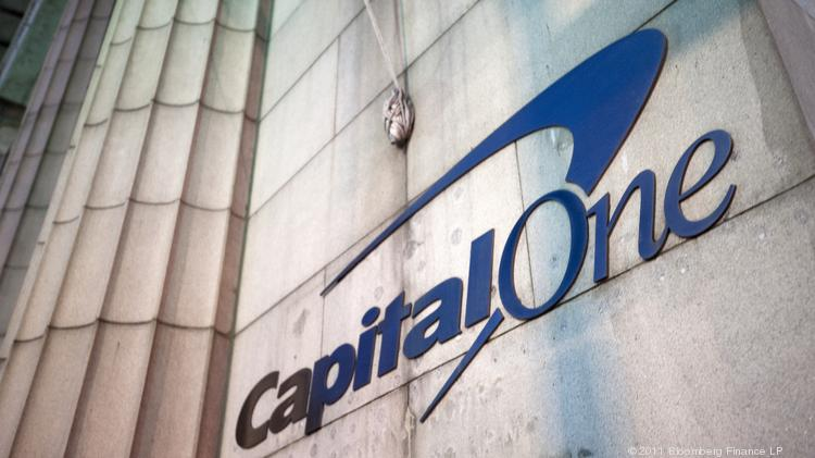 Capital One Financial Corp dropped to ninth place among the nation's largest banks by total assets, according to data released by SNL Financial. The McLean-based firm had been in eighth place at the end of last year. Photographer: Paul Taggart/Bloomberg