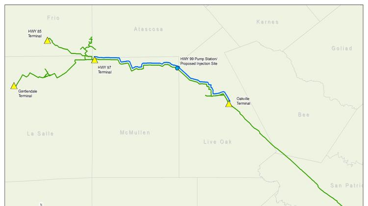 NuStar Energy building new crude oil pipeline origin point ... on map of highway 90 texas, map of highway 77 texas, map of highway 40 texas, map of highway 59 texas, map of highway 10 texas, map of highway 20 texas,