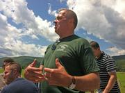 Jim Barber of Barber's Farm in Middleburgh, NY, hosted 20 Albany, NY area chefs on Monday. The chefs are taking part in a June 29 fundraiser, Bounty of the County, to raise money for the flood-damaged area.