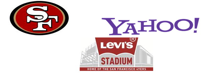Yahoo has signed on to help equip and publicize the San Francisco 49ers Levi's Stadium with online content, social networking, photo and video sharing.