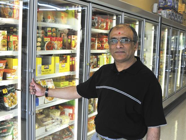 Devendra Patel, owner of Shree-G Grocers in Miami Township, is a native of India.