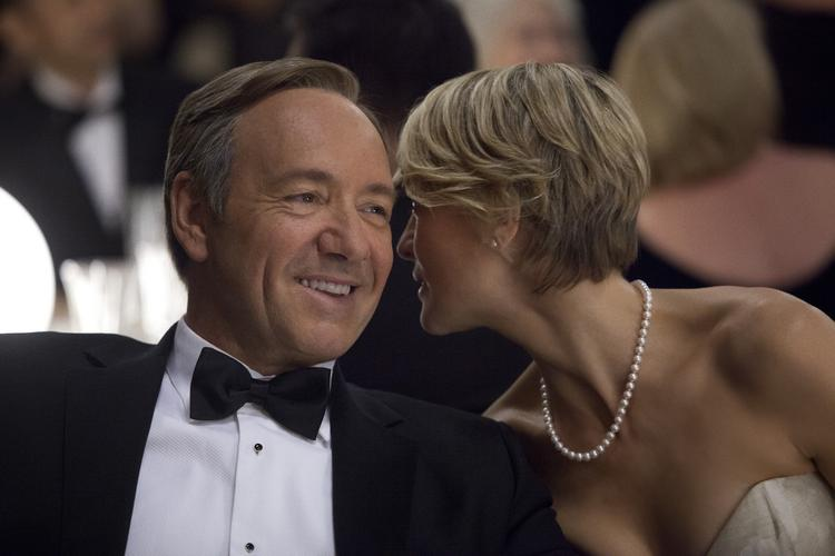 """House of Cards"" star (and executive producer) Kevin Spacey is pictured here with  co-star Robin Wright. The Netflix production, a dramatic series filmed primarily in Maryland and starring Spacey as a manipulative congressman, was geared up for a 3 p.m. Aug. 3 shoot of a presidential motorcade running a loop around the National Mall. But Police Chief Cathy Lanier inexplicably pulled the permits that morning, according to multiple sources familiar with the goings-on that day."
