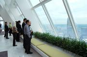 "A delegation of officials and business executives from Baoding, China toured Charlotte on June 17 and 18 to learn more about the city's growing energy cluster. Baoding -- which has been praised as the ""the greenest"" in the world because it's home to more than 170 alternative energy companies -- is also one of Charlotte's eight sister cities.The Charlotte International Cabinet organized the trip. On Monday, the group visited Duke Energy Corp. headquarters where they took in dramatic views of the Queen City."