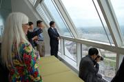 Former Charlotte City Councilwoman Nancy Carter joined a delegation of officials and business executives from Baoding, China on Monday as they toured Duke Energy's headquarters and other parts of the Queen City.