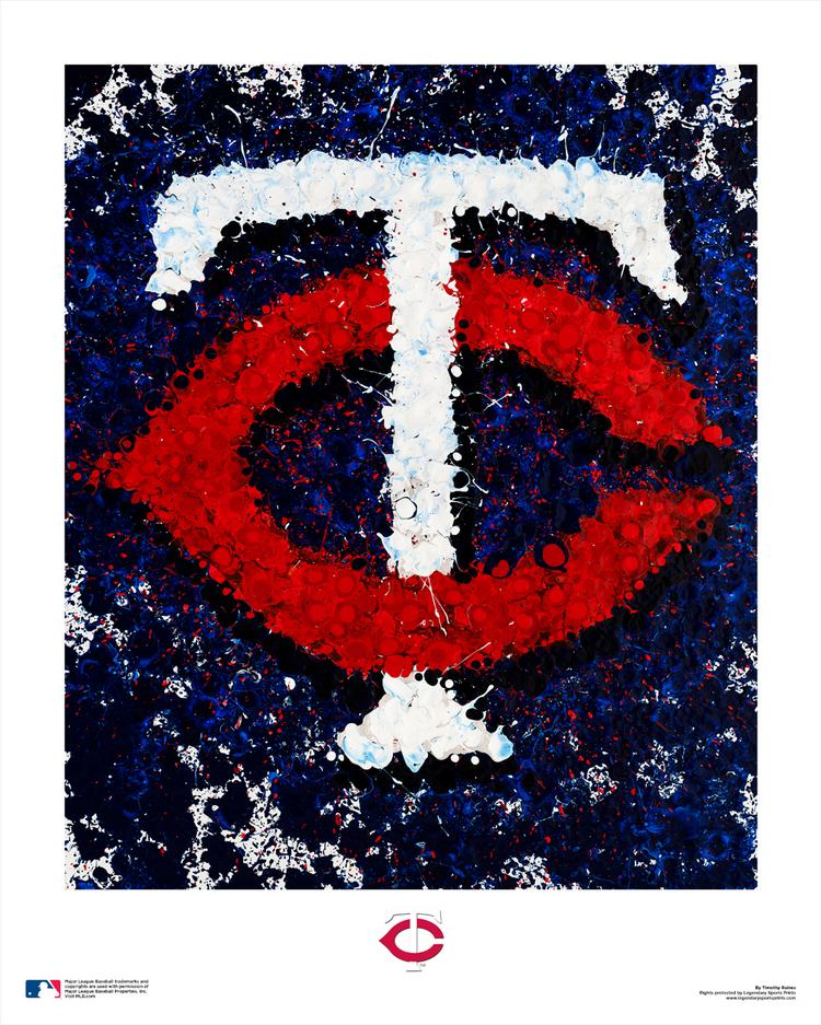 The Minnesota Twins logo as painted by St. Petersburg-based artist Tim Raines.