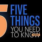 ​Five things you need to know today, and the difference between frappes, milkshakes and cabinets