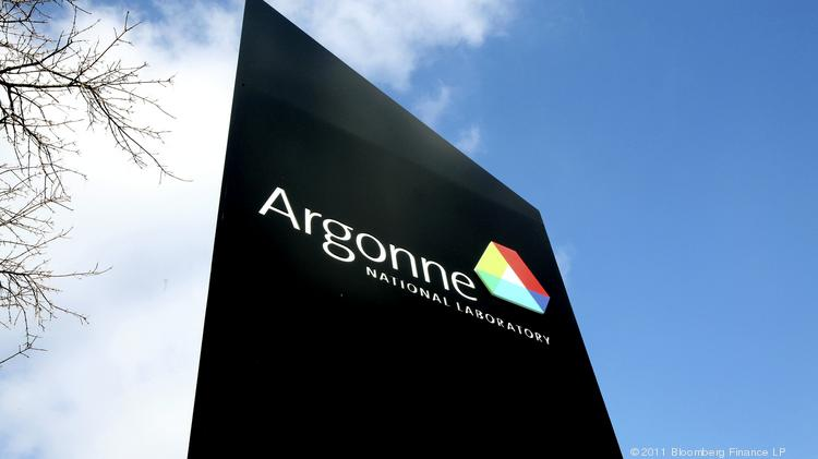 Signage for Argonne National Laboratory stands outside the facility in Argonne, Illinois.