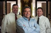 David Gonzales, center, recently purchased Lakeside Plaza in Baymeadows. His brokerage team consists of Joe Scavetto, left, and Alex Evans of Cervus Commercial Realty.