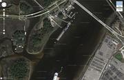 This screenshot shows land JEA owns across from the Blount Island Terminal.
