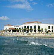 The Galveston Island Convention Center at The San Luis Resort 5600 Seawall Blvd. Meeting rooms: 11 Meeting facilities: More than 100,000 square feet of space