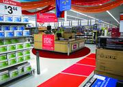 The Glidden Paint display at Walmart, as designed by University of Miami students.