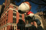 Snoopy is one of the more iconic characters to have its own balloon at the Macy's Thanksgiving Day Parade in New York.