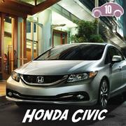 The Honda Civic ranked 10th on the list.