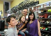 Longtime bicycle enthusiasts and WInter Garden residents Dennis and Karen Jones opened Wheel Works bike shop in the downtown area. Their son, Ty, and daughter, Cali, are regular visitors. Ty's own bike was the first one ever built in the shop.