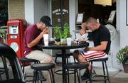 Outdoor dining is available all along Plant Street.