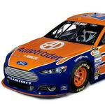 The Autotrader No. 22 Ford Fusion gets a new paint job