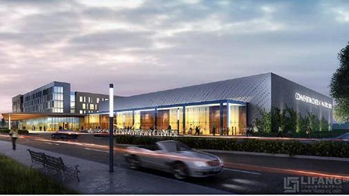 A 64,500-square-foot convention center is slated to be built next to Allen's Watters Creek apartment and shopping center.