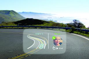 Major automakers eye S.F. startup's device that projects cell phone data on windshields