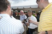 Federal Highway Administrator Victor Mendez talked with members of the media.