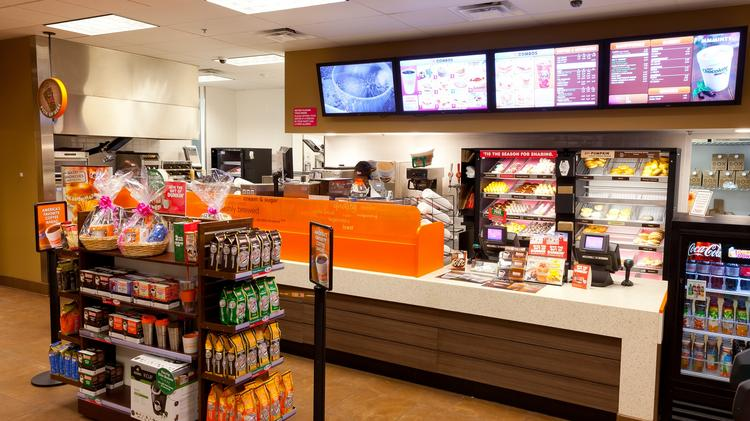 "The Dunkin' Donuts ""Original Blend"" store format (file photo)."